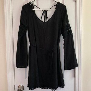 Black Lace Bell Sleeve Dress (NWT)